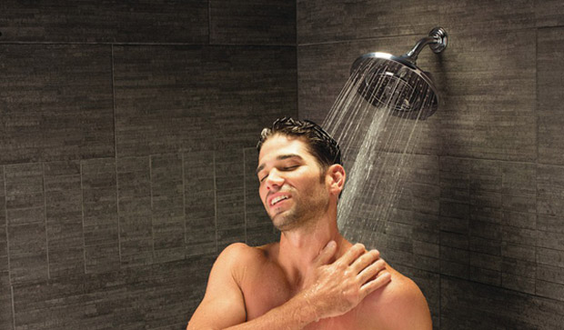 wet whores are taking shower together with the strong man  166350